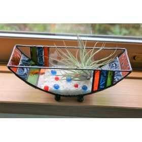 ステンドグラス・舟形のテラリウム