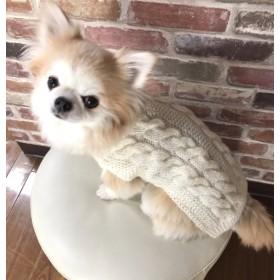 犬服 約1~2号 わんこセーター (F7)ホワイト