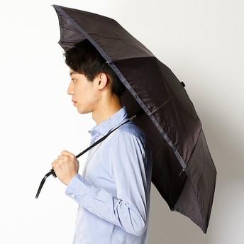 [マルイ]【セール】自動開閉雨傘(3段/折りたたみ/WJミニ)ツイル無地グラグランテープ(メンズ/紳士)/ランバンオンブルー(傘)(LANVIN en Bleu(umbrella))