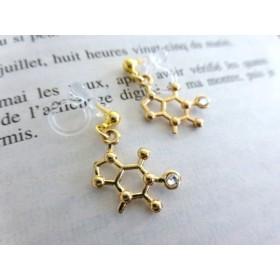 カフェイン 分子構造式のピアスorイヤリング
