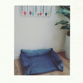 シンプルデニムペットベッド 犬のベッド 猫のベッド