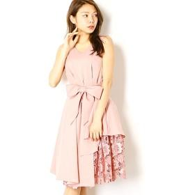 [マルイ]【セール】ウェストタック入り花柄刺繍レース使いギャップレングス丈ワンピース/ドリードール(Dorry Doll)