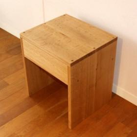 【送料無料】ナラ無垢のサイドテーブル(受注製作の無垢家具)ナイトテーブル・鏡台・スツール・踏み台