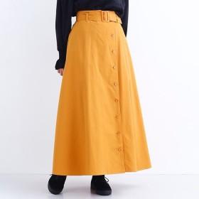 [マルイ] ウエストベルトフロントボタンマキシスカート/メルロー(merlot)