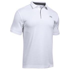 アンダーアーマー(UNDER ARMOUR) メンズ ゴルフウェア テックポロ UA Tech Polo ホワイト 1290140 100 ゴルフ ポロシャツ 半袖 トップス スポーツウェア