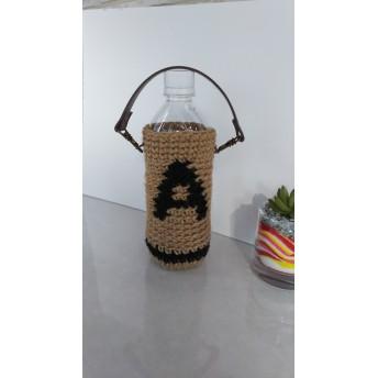 A(黒色)の麻ひもペットボトルホルダー