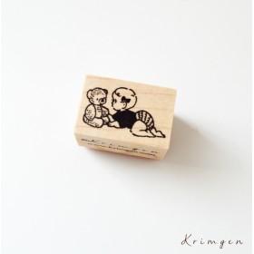 Baby and teddy Bear ハンコ