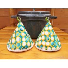 2個セット★三角鍋つかみ★staub ルクルーゼ等にいかがでしょうか? ミトン 鍋つかみ 北欧