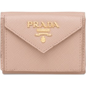 Prada 三つ折り財布 - ピンク