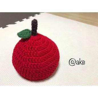 店舗販売にて売れました。材料あります!【出産祝いに 】【好評価 (別サイト)】【送料込み】りんご帽子 Sサイズ