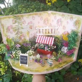小さな お花屋さんガーデン ミニチュア花園 森 ガーデン ミニチュア ドールハウス ガーデン ガーデニング