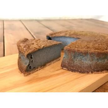 真っ黒!黒ゴマの豆乳チーズケーキ
