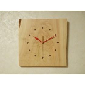 天然木 桧 木製時計26(掛け時計)