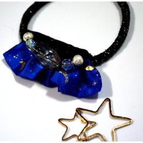 星屑ヘアゴム ブルー