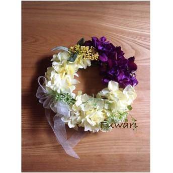 紫陽花のフラワーリース 母の日