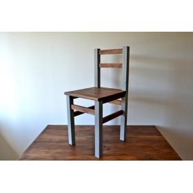 2トーンカラーの椅子 チェア color: gray×walnut