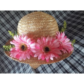 ・゚これからの季節にピッタリ ・゚可愛らしいピンクのお花の麦わら帽子 ・゚
