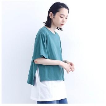 [マルイ]【セール】レイヤードデザインTシャツ1407/メルロー(merlot)