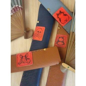 革製の扇子ケース