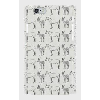 iPhoneケース[馬と鹿]