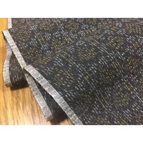 和布 新品 正絹 紬 ハギレ(こげ茶)166㎝【h275008562】