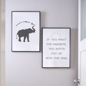 アニマルシリーズ A4ポスター 2枚セット ゾウ