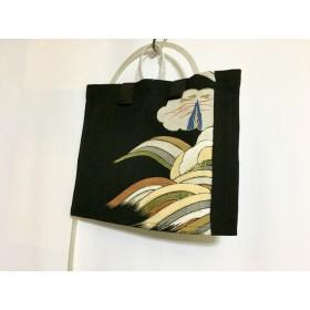 9ac02dcbee12 プリント生地飾り付きトートバッグ刺繍のようなお花畑 通販 LINEポイント ...