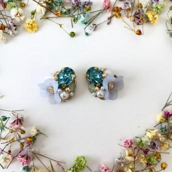 パーツクラブ花びらパーツの春色デザイン