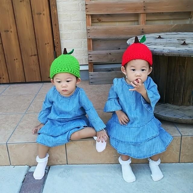 りんごのどんぐり帽子