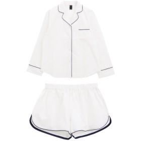 [マルイ]【セール】ブルーミングフローラ綿100%長袖+ショートパンツパジャマ/ブルーミングフローラ(bloomingFLORA)