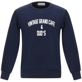 《送料無料》ATHLETIC VINTAGE メンズ スウェットシャツ ダークブルー S コットン 100%