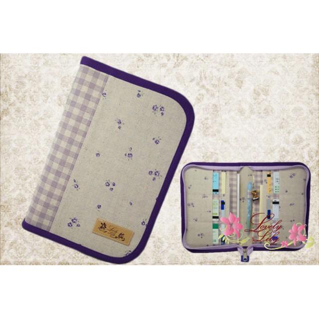 母子手帳ケース M ラウンドタイプ 小花柄 パープル B6サイズ用