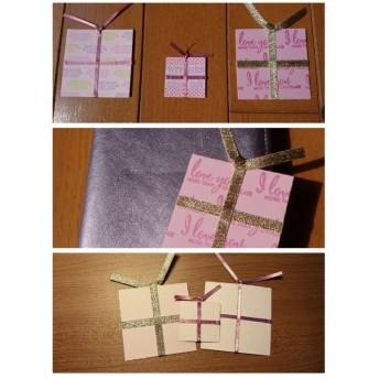 しおり ミニ プレゼント型(3枚セット)