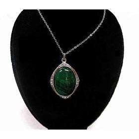 天然石 マラカイトネックレス (ペンダント) 180101152