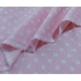 〘50×50〙Wガーゼ ドット(水玉) ピンク白