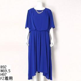 [マルイ]【セール】【大きいサイズ】袖付きロングドレス/ラクープ(LACOUPE)