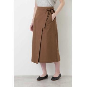 HUMAN WOMAN / グログランストレッチラップスカート