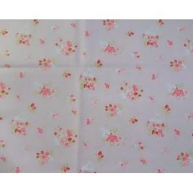 綿/麻(フラワーブーケ柄)50cm×50cm