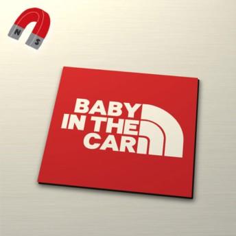 【マグネット】BABY IN CAR:レインボー角デザイン/RE
