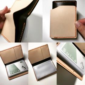 本革 レザーカードケース コンビ10カードケース
