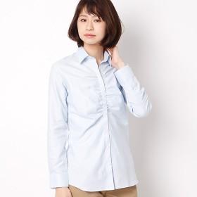 [マルイ]【セール】ふんわり柔らか素材♪ イージーケア 長袖スキッパーギャザー/ハートメイドシャツ(Heart Made Shirts)