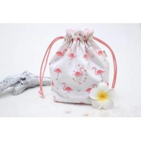 Flamingo Garden 巾着袋【送料無料】