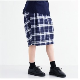 [マルイ]【セール】ウール混チェック柄コクーンスカート/メルロー(merlot)