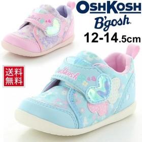 ベビーシューズ 女の子 子ども OSHKOSH オシュコシュ スニーカー 花柄 子供靴 12.0-14.5cm ハート ガーリー かわいい 幼児 女児 moonstar/OSK-B430