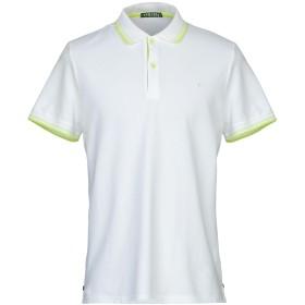 《セール開催中》SHOCKLY メンズ ポロシャツ ホワイト S 95% コットン 5% ポリウレタン
