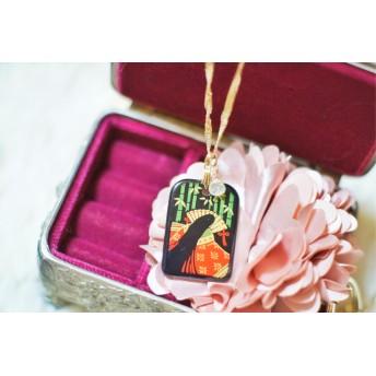 本蒔絵京漆器の開運お守りとルチルクォーツの強運を引き寄せるお守りネックレス