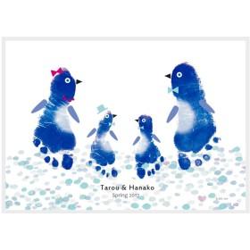 てのひらアート「おねえちゃんといっしょ」ペンギン