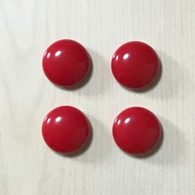 VINTAGE RED RETRO ROUND ACRYL CABOCHONS