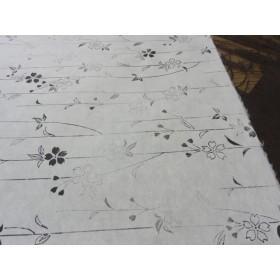 埼玉県小川手漉き和紙包紙 墨で友禅柄摺り 枝垂れ桜