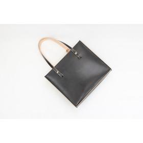 JAPAN LANSUI DESIGN 名入れ対応 ヌメ革手作り手縫い ハンドバッグ ファスナー付き